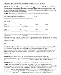 Commercial Lease Agreement Form Download Sample – Handtype