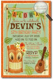 Retro Hawaiian Birthday Party Invitation Di 414 Harrison