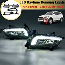 Lamps And Lighting Stores Tucson Us 122 85 37 Off For Hyundai Tucson 2015 2016 17 2018 1 Pair White Led Drl Daytime Running Lights Daylight 12v Abs Fog Lamp Cover Car Styling In Car