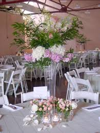 Stunning Table Centerpiece Decoration Using Flowers For Tall Vases :  Engaging Wedding Table Centerpiece Decoration Using