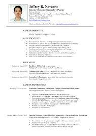 Interior Design Resume Examples Resume Templates