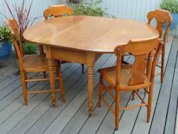 maple wood dining room table. antique maple drop-leaf dining table with four tiger/birdseye chairs · furnituredining tables wood room l