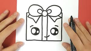 how to draw a present cute and easy