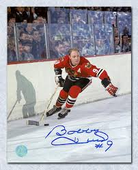 Autographed Hull 11x14 Phot World Bobby Golden Sports Blackhawks Chicago Jet – j Hockey A effafdea|Packer Followers United