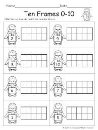 frame worksheets kindergarten grade math ten frames free for kindergarte