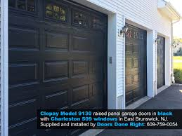 clopay model 9130 garage door in black with charleston 509 windows in east brunswick nj