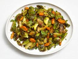 roasted brussels sprouts and carrots