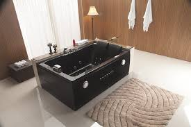 bathtubs idea outstanding 2 person jacuzzi bathtub modern bathroom with mat and towels and capstock