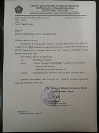 Surat niaga terdiri atas surat jual beli, kwintansi, dan perdagangan; Undangan Rapat Kementerian Agama Provinsi Sumatera Barat