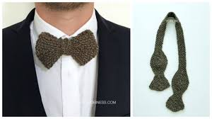 Knit Bow Tie Pattern