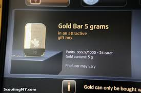 Gold Bar Vending Machine Dubai Simple There's A GoldDispensing ATM On West 48th Street Scouting NY