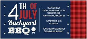 Patriotic Backyard Picnic Fourth Of July Party Invitation