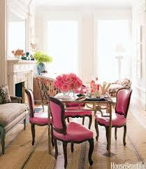 maybe neutral walls and pink chairs with my black and white and raspberry themed dining room