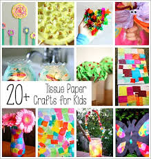 over 20 tissue paper crafts for kids