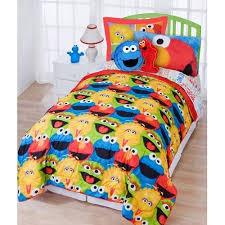 elmo twin sheet set 2 piece kids sesame street comforter twin set big bird elmo cookie