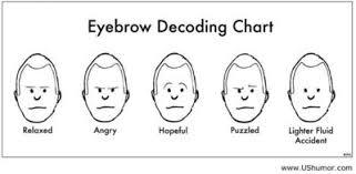 Eyebrow Decoding Chart For My Closet Juxtapost