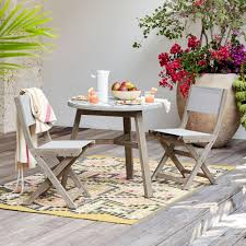 west elm outdoor furniture. Portside Folding Textilene Bistro Chair - Weathered Grey West Elm Outdoor Furniture E