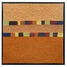 TAFA: The Textile and Fiber Art List | Cindy Grisdela Art Quilts ... & Cindy Grisdela Art Quilts Quilted Wall Hanging with Cinnamon Brown Stripes  - Sand Dune Adamdwight.com
