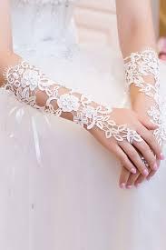 Svatební Rukavice Krajka 173115 Bílá Uni