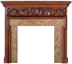 chippendale style wood fireplace mantel with hand carved s fl scroll a and deep