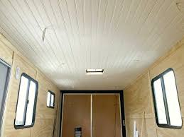 tongue and groove ceiling installation in an rv