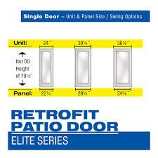 single patio door. Single - Retrofit Patio Door Elite Series Doors Profile D