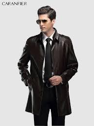 <b>CARANFIER</b> Mens Jackets <b>Vintage</b> Zipper Coats <b>Genuine</b> Cowhide ...