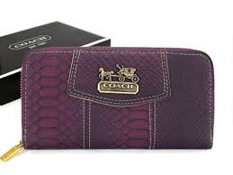 Coach Accordion Zip In Croc Embossed Large Purple Wallets Cco Fashion  Likeness