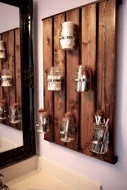pallet and mason jars  LOVE this idea! Especially for a small bathroom   pallet and mason jars  LOVE this idea! Especially for a small bathroom   was ...