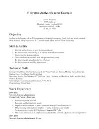 Resume Examples Of Technical Skills Technical Support