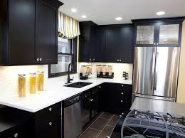 kitchen wonderful black kitchen cabinet design with lighted white countertop painted black kitchen cabinets