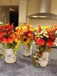 Fall Table Decorations With Mason Jars Mason Jar Wedding Centerpieces Mason Jar Centerpiece With Fall 10