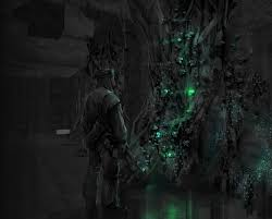 concept art of glowing plants from metro last light