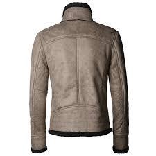 autumn vintage old leather jacket men wool lining men warm fur collar jacket mens faux leather