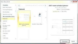 Ms Project Schedule Template