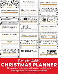 Party Planning Lists Christmas Planner Free Printable Planner Yellowblissroad Com