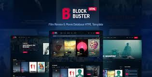 Film Template For Photos Blockbuster Film Review Movie Database Html Template By Haintheme