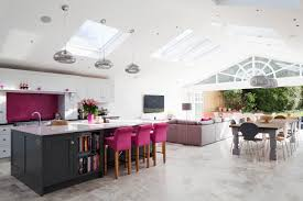 Large Kitchen Rear Extension Open Plan Living Large Kitchen Island With