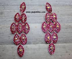 hot pink chandelier earrings pixsharkcom images view larger