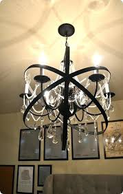 orb chandelier with crystals home decor restoration hardware knock off orb chandelier made with a plain chandelier orb smoke crystal chandelier