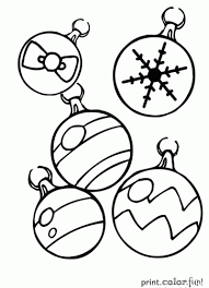 Small Picture Christmas ornaments coloring page Print Color Fun