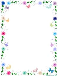flowers borders clipart simple