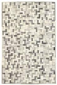 bloc grey white modern leather area rug jpg