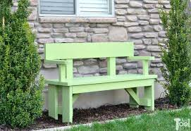 wood bench outdoor with back plans and table patio porch