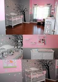 our little girls nursery tree pink and grey white furniture elephants headband holder rack elephant crib
