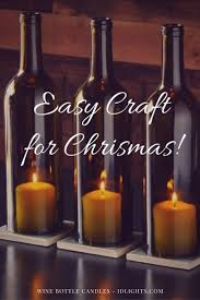 Easy Table Lamp Crafts for Christmas: Candle in a Wine Bottle