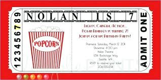 Make Your Own Movie Night Tickets Admit One Ticket Printable