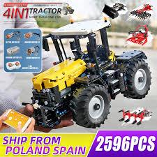 <b>Mould King</b> APP <b>High tech Motorized</b> Grassland Harrow Tractor ...