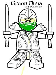 Lego Ninja Coloring Pages Green Ninja Coloring Page Lego Ninjago
