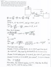 please answer all the questions labeling the answers example pressure head feet etc using the attached solution for a similar problem